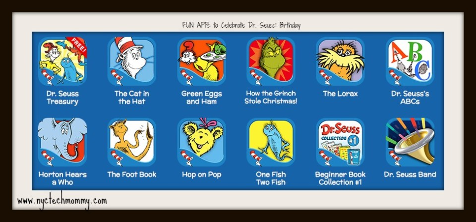 Dr. Seuss Apps to celebrate Dr. Seuss' birthday