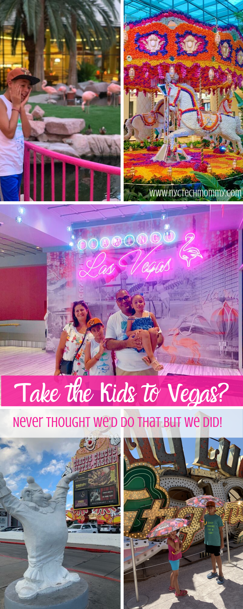 Never thought we'd take the kids to Las Vegas but we did! Check out our tips for a great family trip.