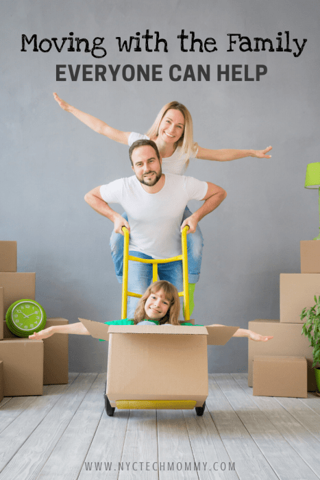Here are great tips on how everyone can help when moving with the family.  #movingday #movingwithfamily #movingwithkids #movingtips