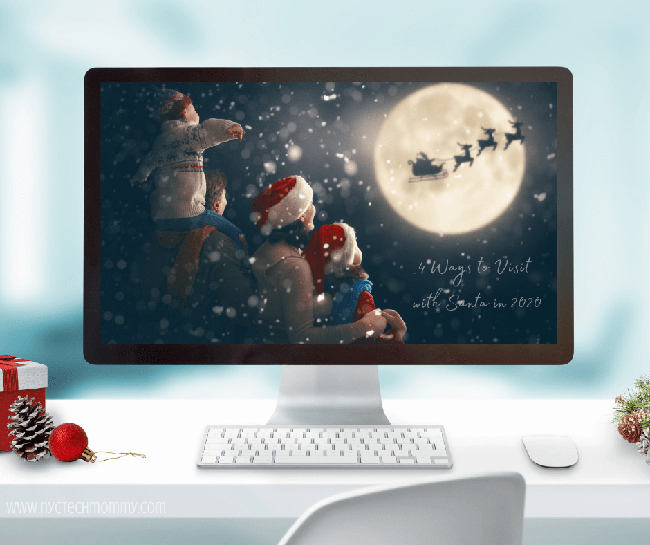 4 Ways to Visit with Santa, video chat or snap a pic, even keep tabs on old Saint Nick on Christmas Eve!