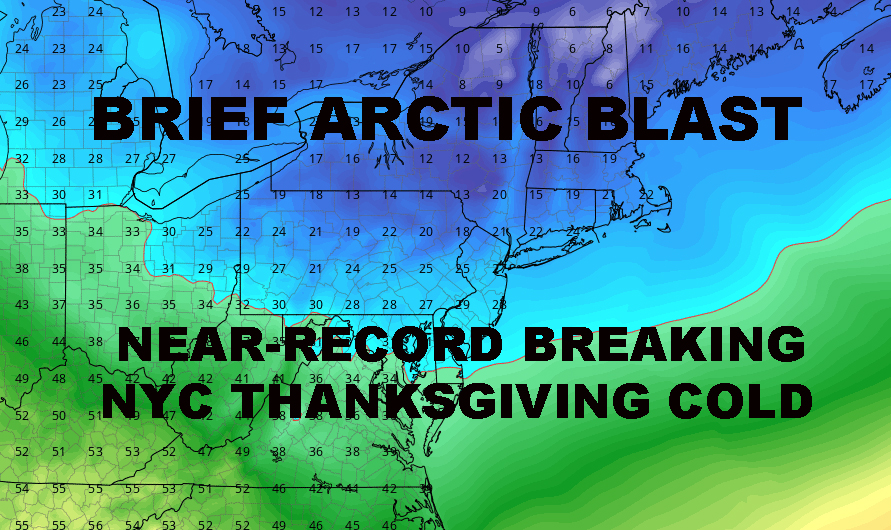 NYC NEAR RECORD FLIRT THANKSGIVING COLD