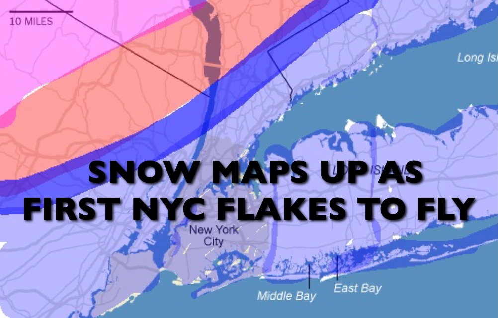 FIRST NYC FLAKES FLY EARLY