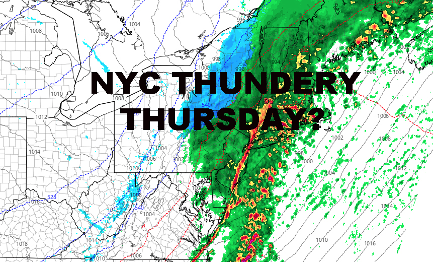 NYC FLASH FLOOD WATCHES ISSUED THUNDERY THURSDAY POSSIBLE