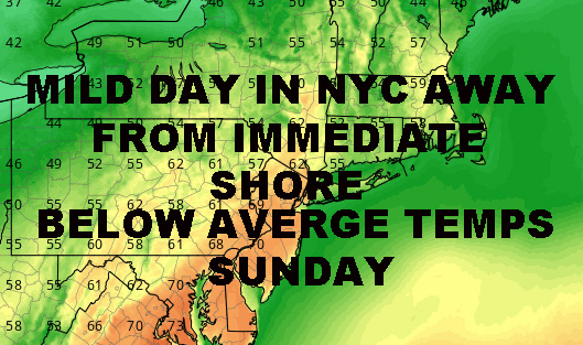MILD NYC FRIDAY BRIEF COOL DOWN AHEAD