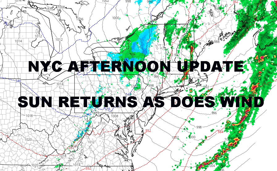 NYC AFTERNOON UPDATE EASTER SUNDAY PREVIEW