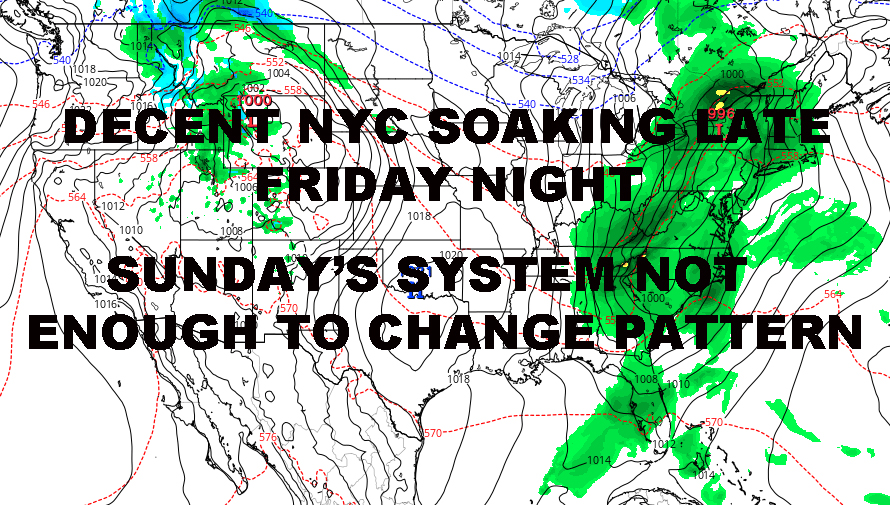 NYC SYSTEM PARADE CONTINUES WITH SEASONABLE TEMPS