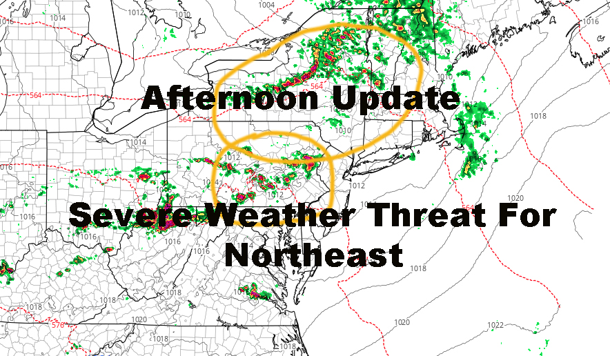 NYC Afternoon Update Northeast Severe Weather Threat