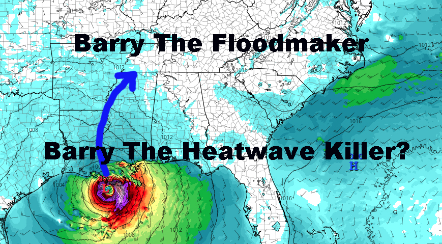 Barry Inundates Gulf Plus Heatwave Questions Remain