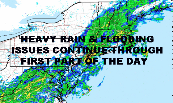 NYC HEAVY RAIN FLOODING ISSUES CONTINUE SEVERAL HOURS