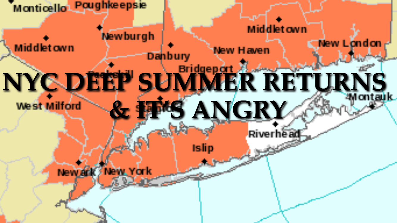 NYC HOT MONDAY TUESDAY AHEAD
