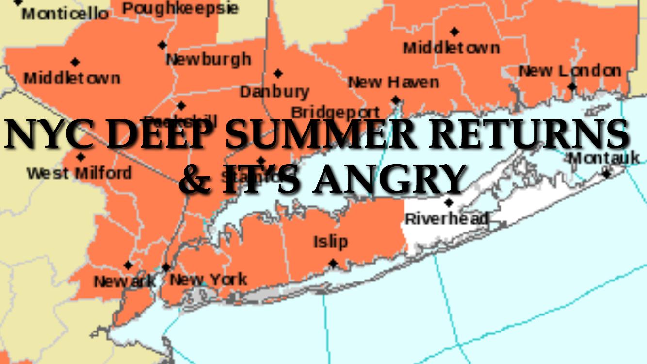 NYC HOT MONDAY TUESDAY AHEAD