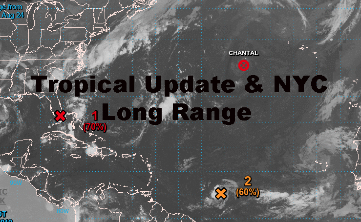 NYC Long Range Forecast Tropical Update