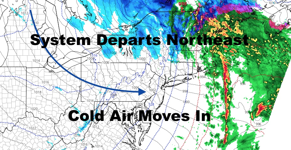 Cold Air On The Move For NYC But Doesn't Stick Around