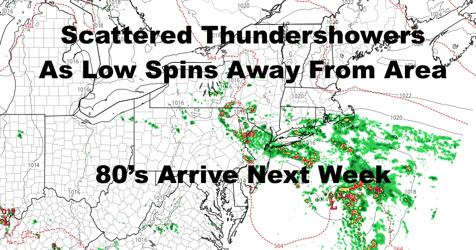 Thundery Showery NYC Day Today 80's Arrive This Week
