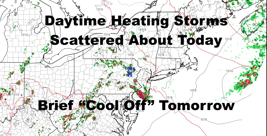 NYC Summer Pop Up Storms Lurking Around Today As Heat Continues