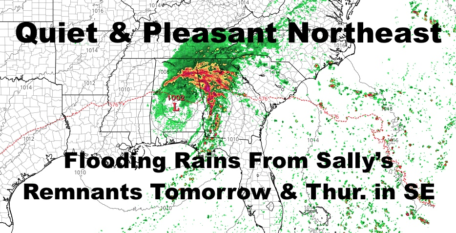 Slow Moving Sally Will Cause Flooding Issues, Quiet NYC Area