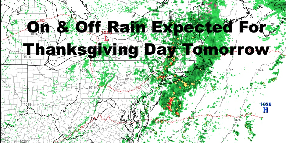 Rainy NYC Thanksgiving On Schedule