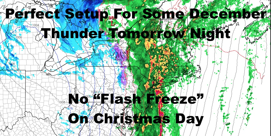 NYC Christmas Eve Lightning Possible