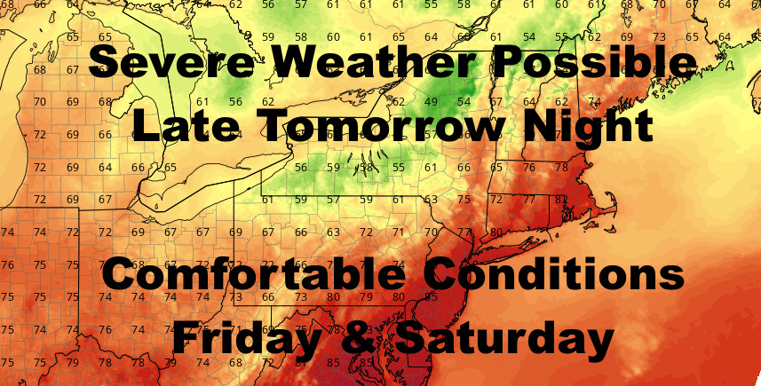 NYC Big Storms Possible Overnight Tomorrow