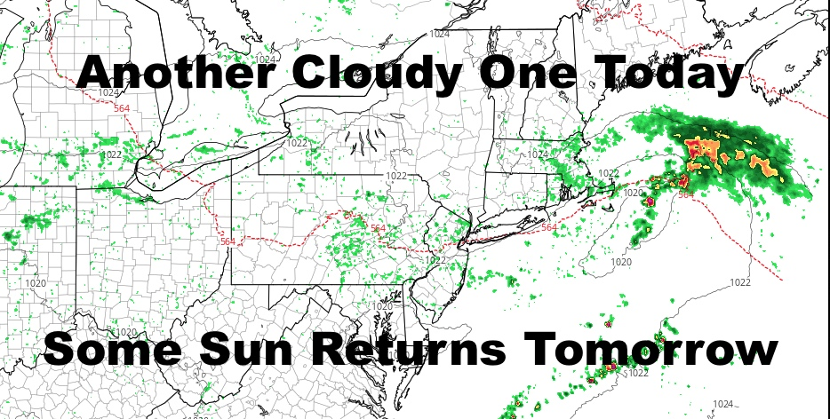 NYC Clouds Widely Scattered Showers Stick Around Today