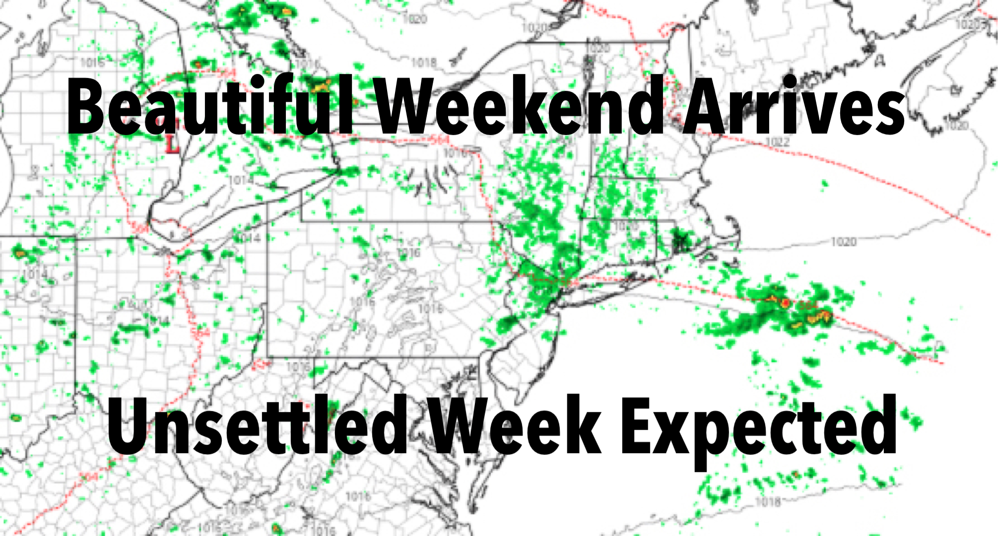 NYC Nice Weekend Unsettled Week