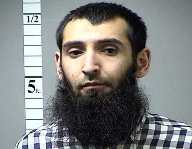 """<span style=""""color: rgb(0, 0, 0);"""">Sayfullo Saipov, 29, of Florida, is accused of driving a truck through a crowd of bicyclists and pedestrians in Lower Manhattan. Saipov is seen here in a 2016 booking photo in Missouri after he failed to pay a traffic citation.</span>"""