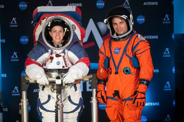 NASA unveils new spacesuits for first woman, next man on the moon