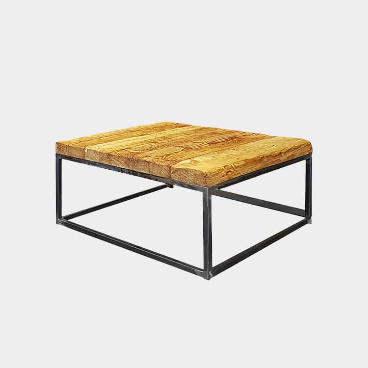 designer reclaimed wood coffee table