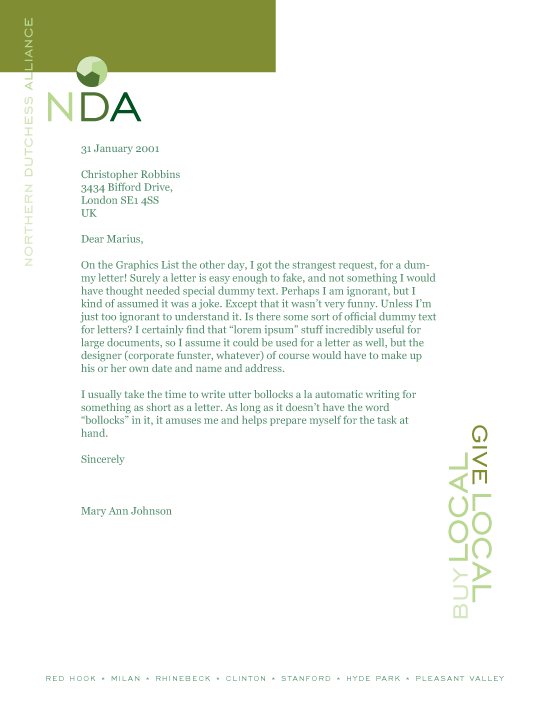 NY DesignLab Poster Design Northern Dutchess Alliance Poster