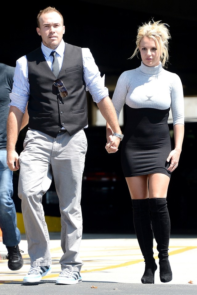 Britney Spears Wears Skintight Minidress And Over-Knee Boots To ...