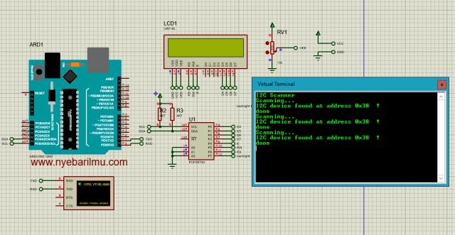 I2 Scanner modul pcf8574