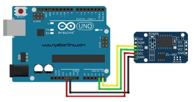 Arduino uno + Module RTC DS3231