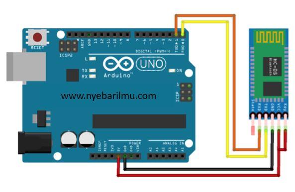 tutorial arduino mengakses module bluetooth HC-05