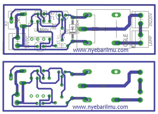 rangkaian lampu otomatis sensor LDR - PCB