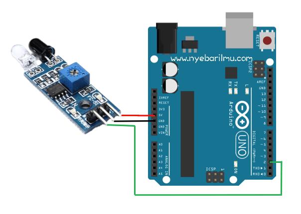 Tutorial Sensor line Proximity pin dengan arduino uno
