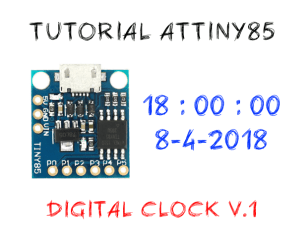 Tutorial digital clock attiny85