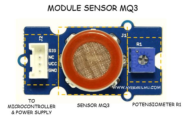 Module sensor gas mq3 - app breathalyzer