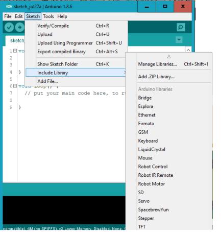 Instalasi libraries NTP Server di arduino IDE