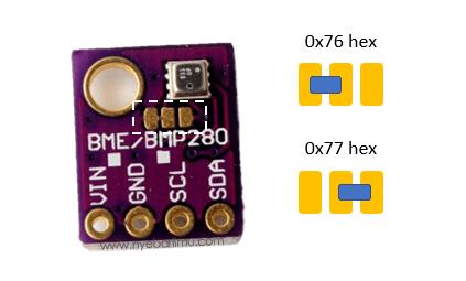 settings i2c address sensor BME280