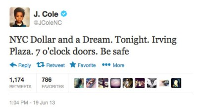 j-cole-secret-show-tonight-irving-plaza-for-dollar-a-dream-tour-tweet