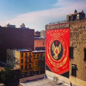 Shepard Fairey Creates New Mural In L.E.S For L.I.S.A. Project