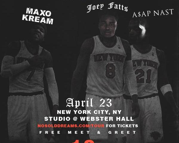 TONIGHT AT WEBSTER HALL, PERFORMANCE FROM JOEY FATTS, ASAP NAST AND MAXO KREAM