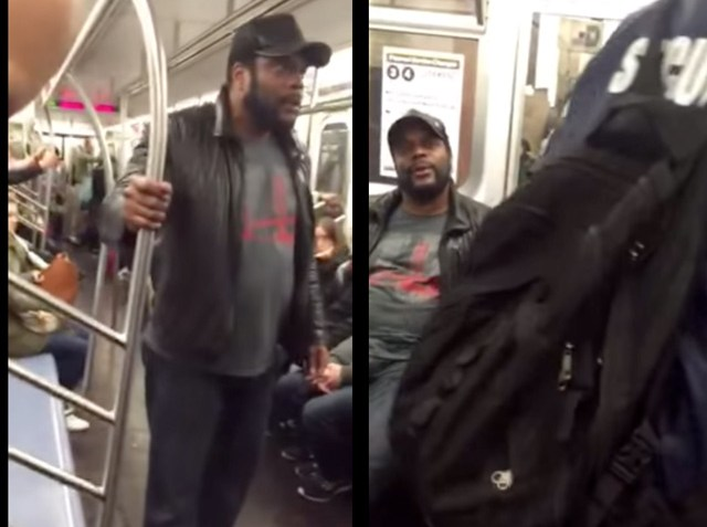 Walking Dead' Actor freaks out on NYC subway Video