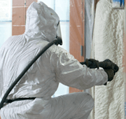 Spray Foam with Suit
