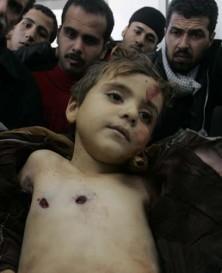 Dette bildet er fra Gaza, men det er jo samme slagmark og samme krefter bak, så ....