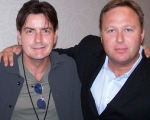 Charlie Sheen og Alex Jones
