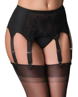 8 Strap Suspender Belt Lace Front Panel
