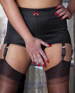 6 Strap Crotchless Panty Girdle