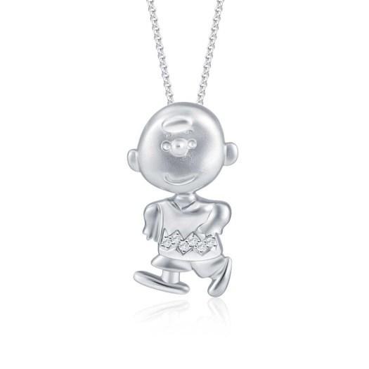 Joyful Charlie Brown Diamond Pendant (S$369)