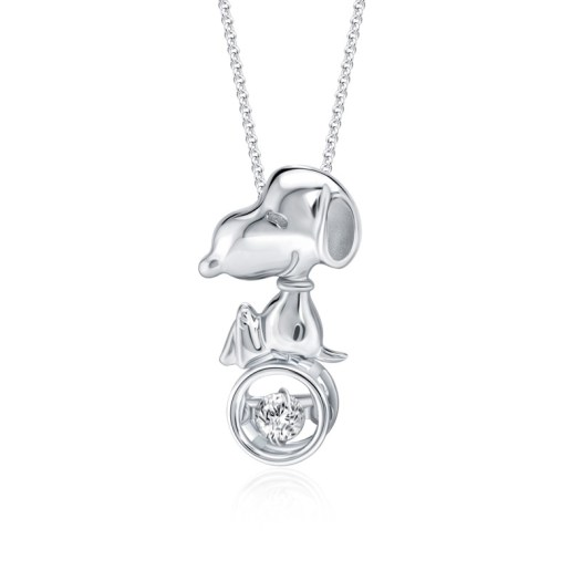 Snoopy Top of the World Diamond Pendant (S$399)